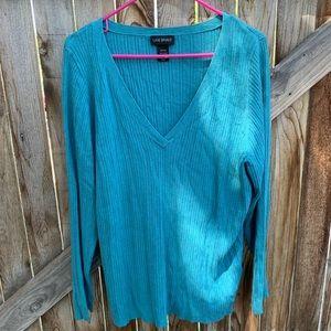 Lane Bryant Vneck Long Sleeve sweater size 26/28
